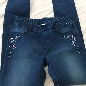 Gymboree girls size 10 jeggings with jewels